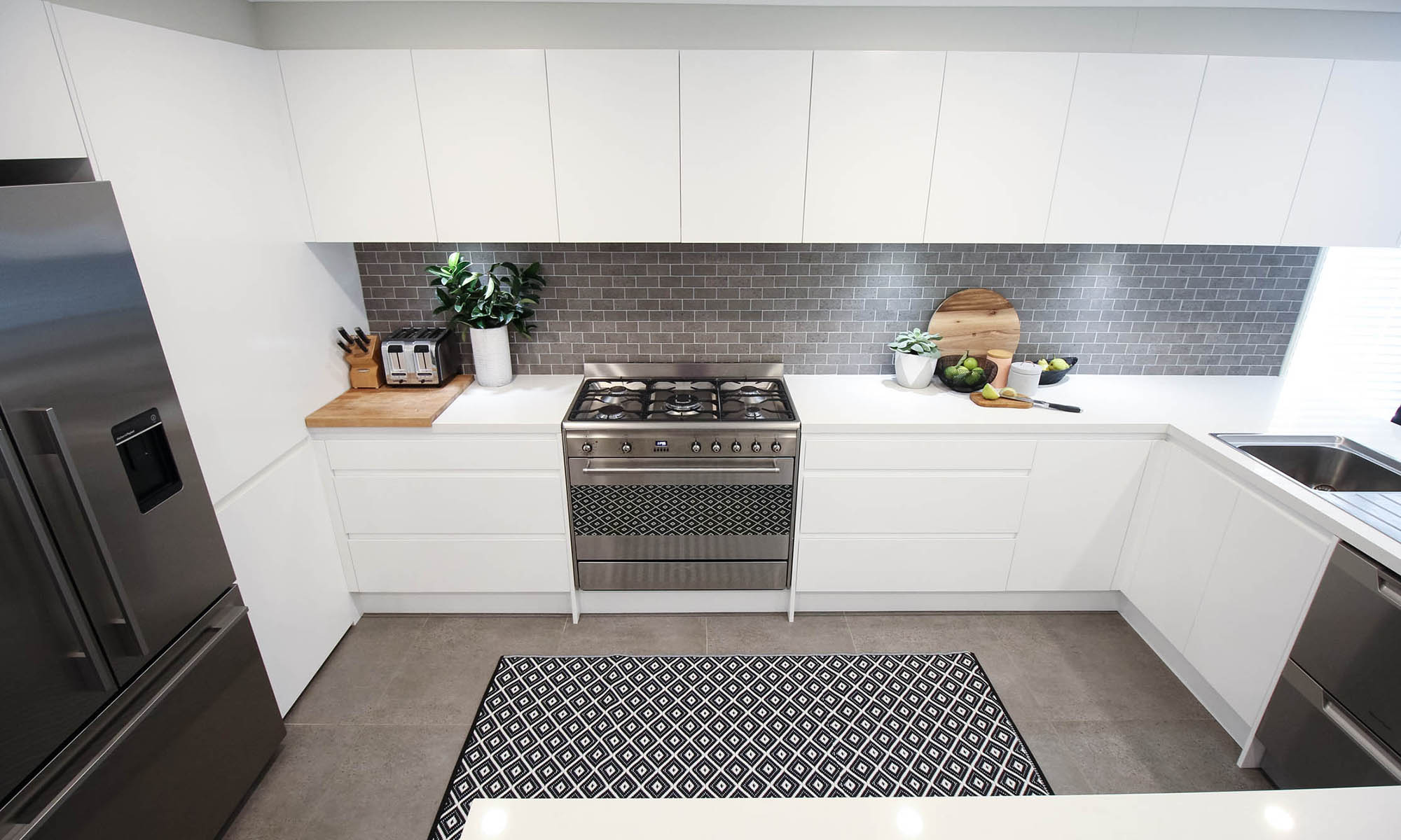 Blue Grey Kitchen Wall Tiles