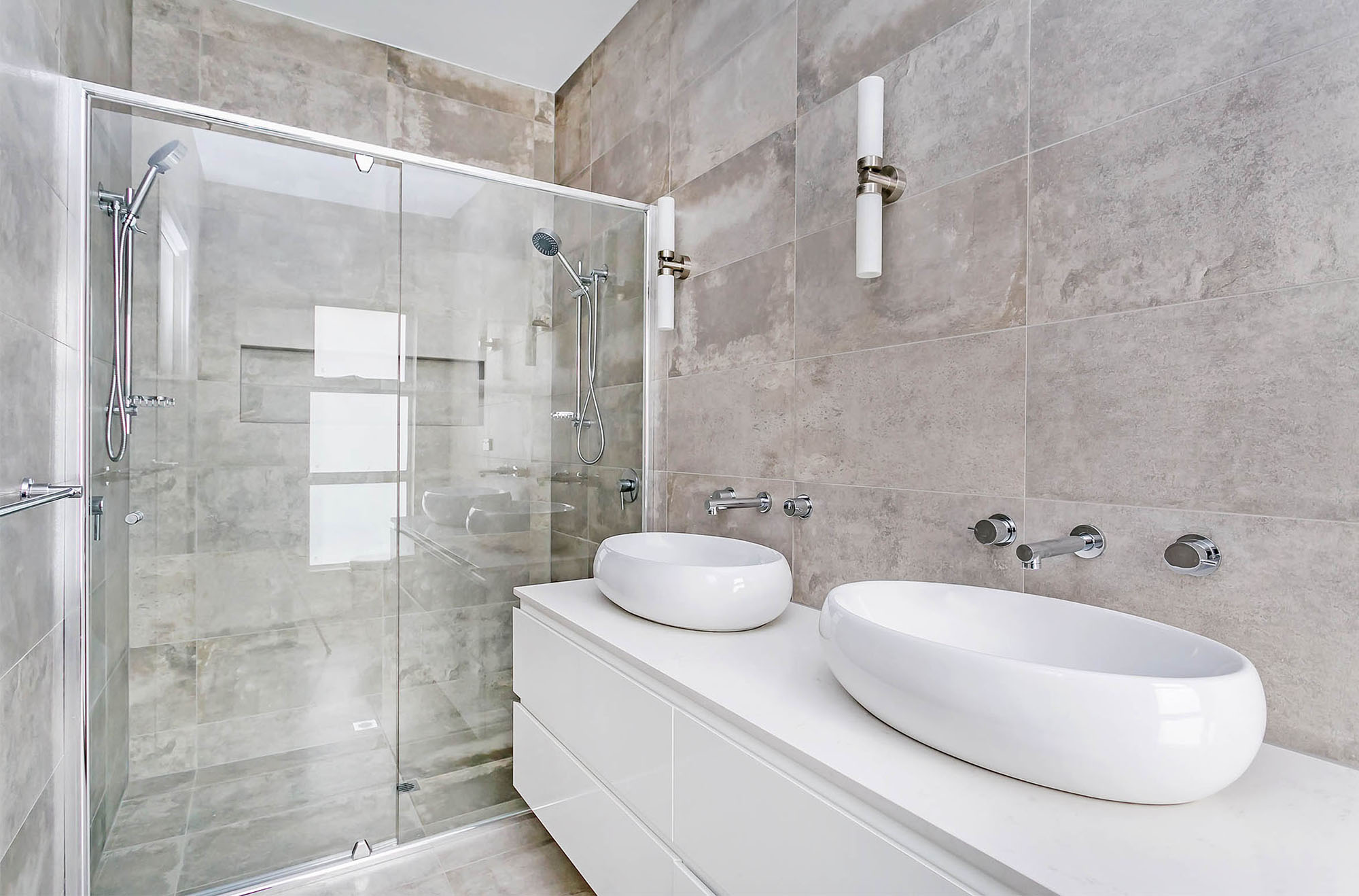 Marble Hexagon Tile Bathroom